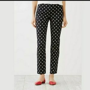 J.Jill | Black and White Paisley Trousers
